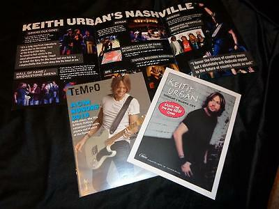 Keith Urban *Great 3-Panel Voter Mailer+Music Industry Mag Cover+Radio Sheet!