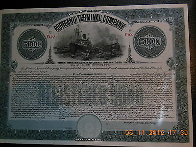 Portland Terminal Company Registered Gold Bonds (3 values) unissued