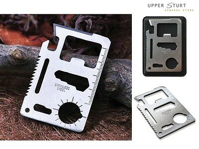 10 in 1 credit card size multi-function survival tool FAST 'N FREE DELIVERY