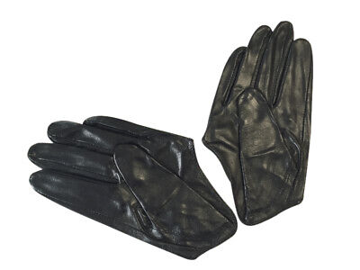 Ladies/Womens Leather Driving Gloves - Black