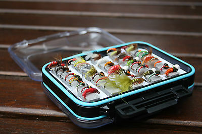 Flextec 50 Assorted Special Nymphs Flies Selection in Fly Box