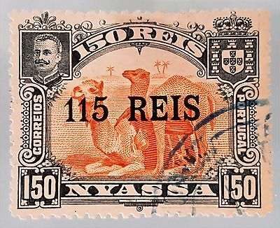 Portugal Nyassa Company 1903 Sc # 45 115r on 150r VFU HR Stamp Collection