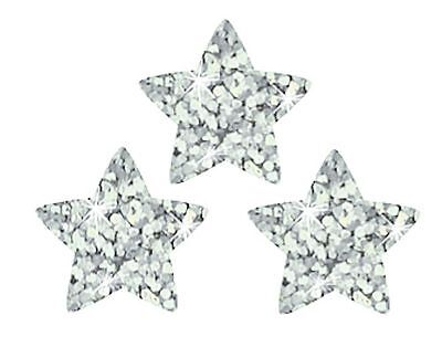 400 Silver Sparkle Star Teacher Reward Stickers - use at School or at Home