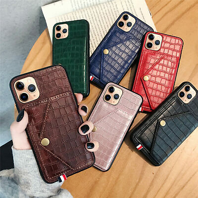 HF Fashion Flip Printed Strap PU Leather Lot Card Pocket Kickstand Case Cover