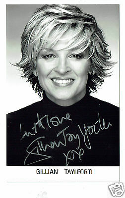 Gillian Taylforth British Actress Hand Signed Photograph  6 x 4