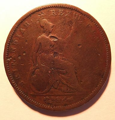 1826 George Iv Copper Penny (5391)