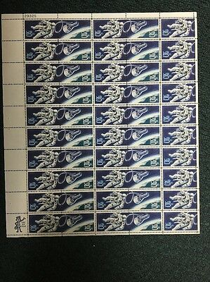 1331-2 .05 Space Twin Sheet Of 50. Missing Red In The Capsule. MNH.  SCARCE.