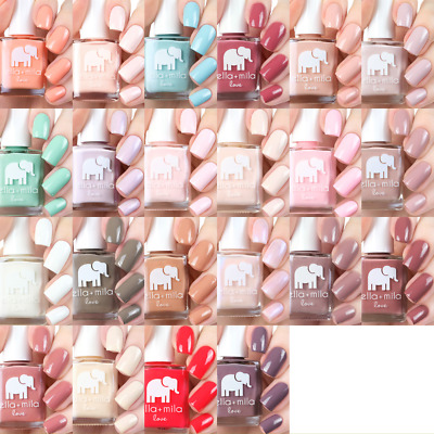 ella+mila - Love Collection - Creme Pink Blue Nude - 14.78ml Vegan Nail Polish