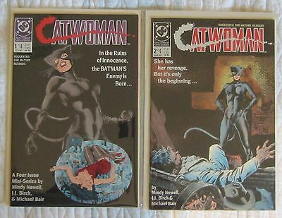 Dc Comics Catwoman Volume One - Four (4) Issue Mini-Series Mint Stored In Mylite