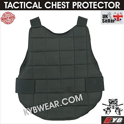 KYB Tactical Airsoft Paintball Chest Protector Padded Body Armour Protective UK