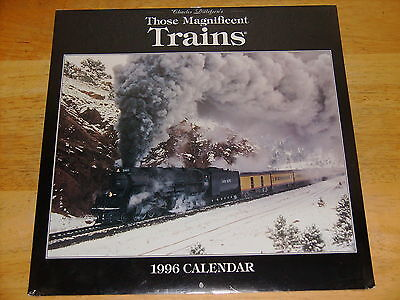 1996 Charles Ditlefsen's Those Magnificent Trains Calendar ~ New!
