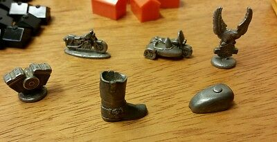 Monopoly Harley Davidson Pewter Tokens Money  Replacement Parts Pieces