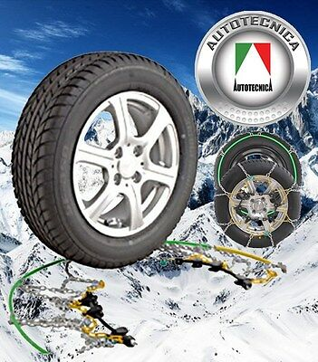 Snow Chains Autotecnica Fits 15, 16, 17 And 18 Inch Wheels Brand New Ca110