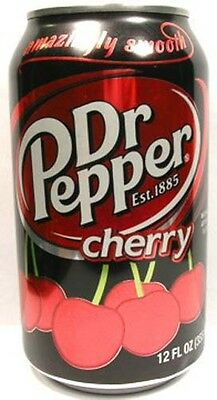 MT UNOPENED 12oz (355ml) American Limited Edition Dr. Pepper Cherry USA Pre-2010
