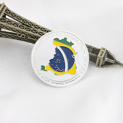Brazil 2016 Rio Olympic Games Stadium Commemorative Coin Silver Tone Collection