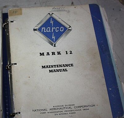 Narco Mark 12 Maintenance Manual Avionics