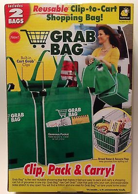 Grab Bags Clip-to-Cart  Green Shopping Bags New