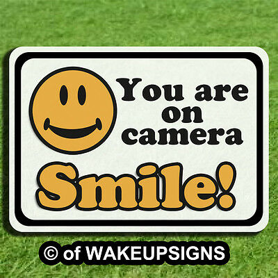Your Video Surveillance Sign Smile You Are You're On Camera Pvc Aluminum