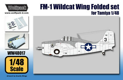 Wolfpack 1:48 FM-1 Wildcat Wing Folded set for Tamiya - Resin #WW48017