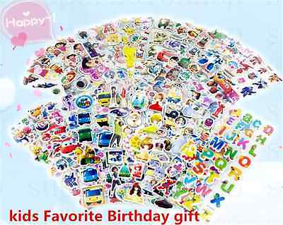 3D children PVC Puffy teaching Stickers lot-kids Reward stickers Birthday gift