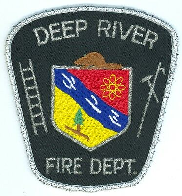 Vintage Deep River Fire Department Uniform Patch Ontario ON Canada