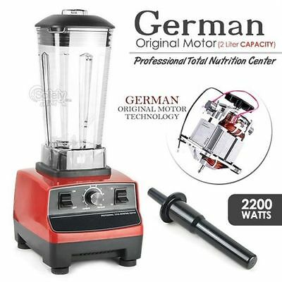 2200W Commercial Blender 2.0L Food Processor Mixer Smoothie Juicer Ice Crusher