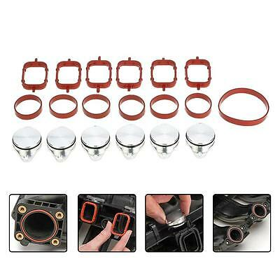 6Pcs 33mm Swirl Flap Blanks Bungs Intake Gasket For BMW 320d 330d 520d 525d H6Q0