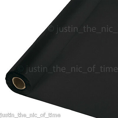 100ft BLACK Plastic Buffet Banquet Roll Party Tableware Table Cover Tablecover