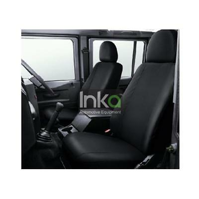 Land Rover Defender Front Set Inka Fully Tailored Waterproof Seat Cover Black