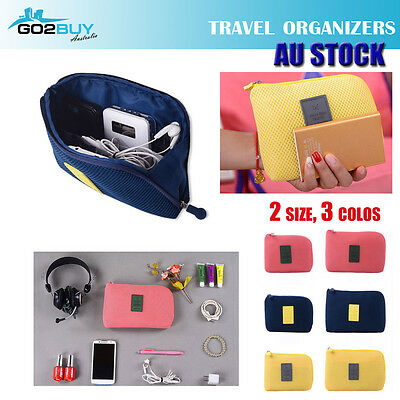 2 sizes Travel Shockproof Storage Organizer Bag Case Digital USB Cable Earphone