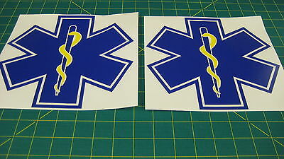 Ambulance Medic Vehicle Medical Star of Life Decals Stickers Graphics