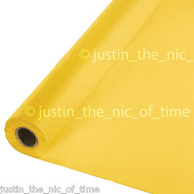 100ft SUNSHINE YELLOW Plastic Buffet Banquet Roll Party Table Cover Tablecover