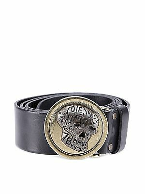 New Men's Belt Diesel BELT BLASTER CINTURA 900 BLACK Cow Leather Belt RRP£90