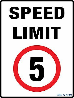 Speed Limit 5Kph -- 300 X 225Mm -- Colorbond / Metal Sign -- Road / Traffic Sign