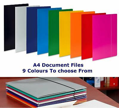 A4 Files Elastic Band Folders Document Paper Storage Foolscap Organiser Filing