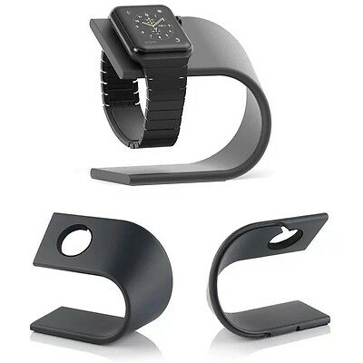 Fashion Black Aluminum Metal Dock Charging Station Stand For Apple Watch iWatch