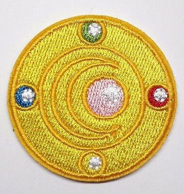 """Sailor Moon 2"""" Yellow Round Logo Embroidered Patch- FREE S&H (SLPA-03)"""