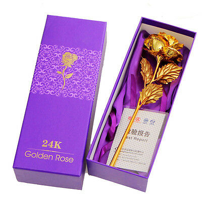 24k Gold Foil Rose Flower Lover's Friends Birthday Special Daily Precious Gift
