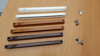 Greenwood 3000S Slot Trickle Vent for PVC Windows in White, Tan/Caramel & Brown