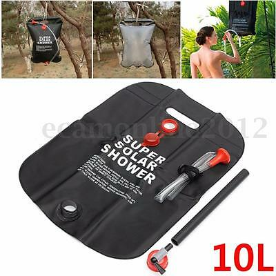 10L Solar Heated Shower Camping Water Bathing Bag Outdoor Travel Hiking Portable