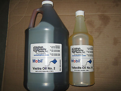 "1 Gallon Of Mobil Vactra Way Oil #2 & 1 Quart Of Velocite Spindle Oil #10 ""new"""