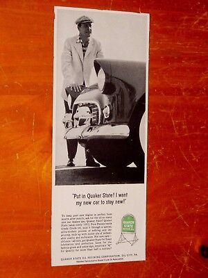 1955 Ford Thunderbird / 55 Quaker State Oil Ad - 50S T-Bird Vintage Classic