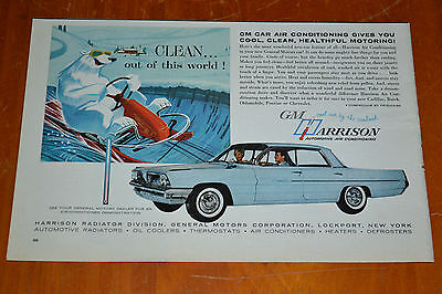 1961 Pontiac Catalina 4 Dr Ht For Gm Harrison Air Conditioning Ad