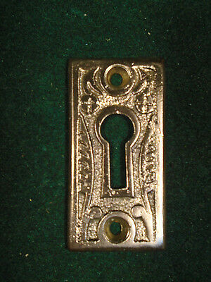 BRASS EASTLAKE KEY HOLE ESCUTCHEON or SURROUND - NOS  (5747-A)