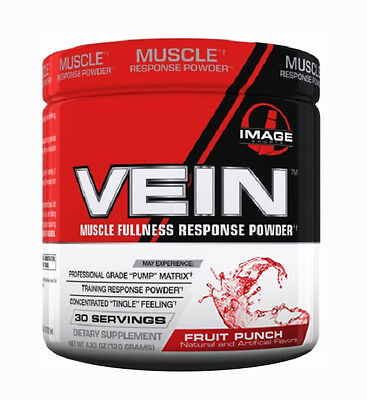 Image Sports Vein Fruit Punch Muscle Fullness Response Powder (Best by 04/2017)