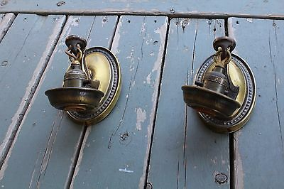 Pair Of Antique Wall Sconce , Art Déco , Brass