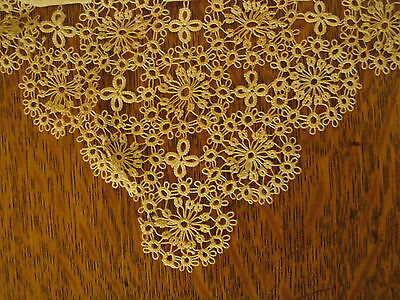 Vintage Bridal Hankercheif Beautiful Hand Tatting From Ireland Never Used