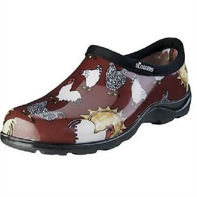 Sloggers Women Waterproof Rubber Size 6 Red Chicken Print Step-In Shoes