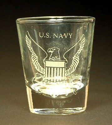 Navy Shot Glass Personalized Navy Logo on front, name on the back