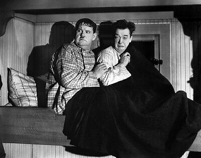 Laurel and Hardy UNSIGNED photograph - B2744 - The Live Ghost